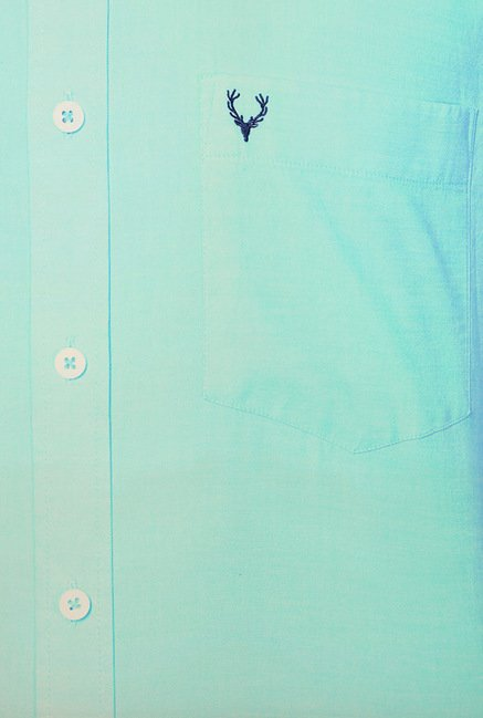 Allen Solly Turquoise Solid Shirt