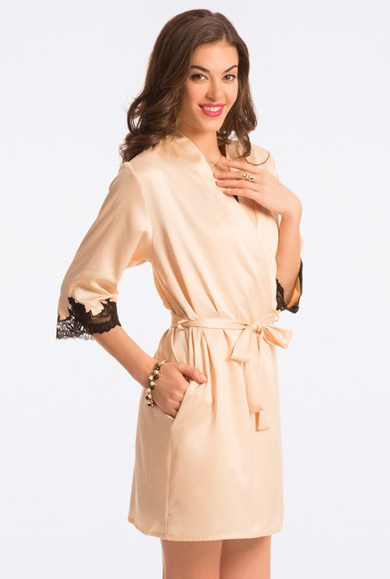 Pretty Secrets Gold Solid Robe