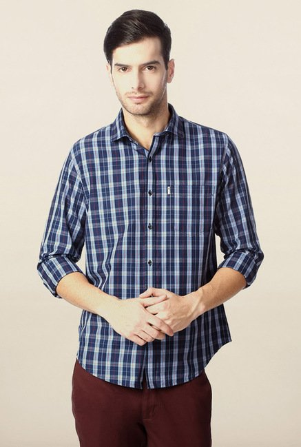 Peter England Navy Casual Shirt