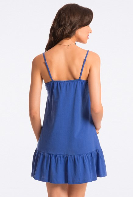 Pretty Secrets Blue Solid Chemise