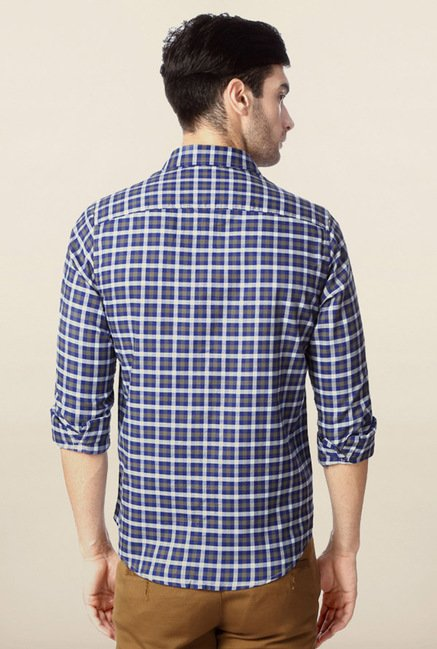 Peter England Navy Checks Shirt
