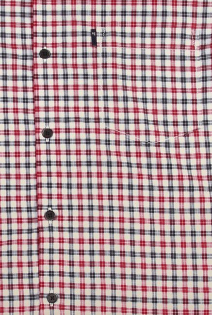Peter England Multicolour Micro Checks Casual Shirt