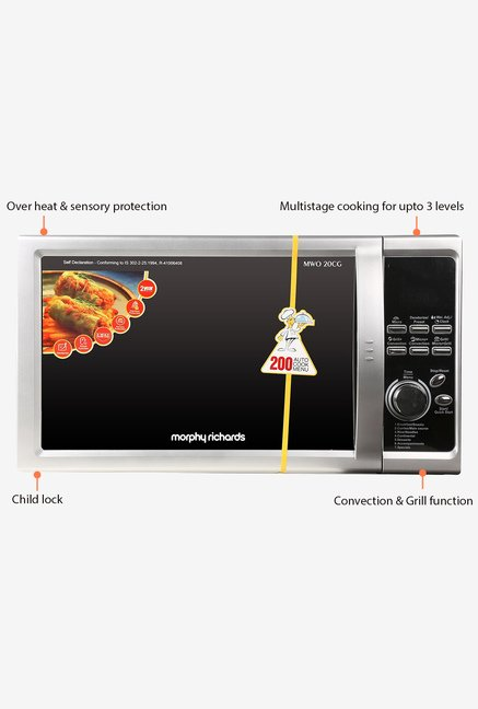 Morphy Richards 20CG 200ACM 20L Convection Microwave Black