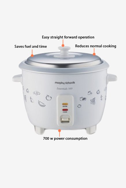 Morphy Richards 1.8 L Essentials 100 Rice Cooker White