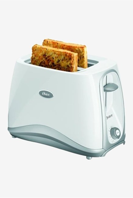 Oster 6544 700 W Removable Crumb Tray Pop Up Toaster White