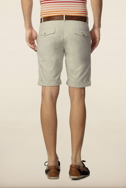 Peter England Grey Solid Shorts