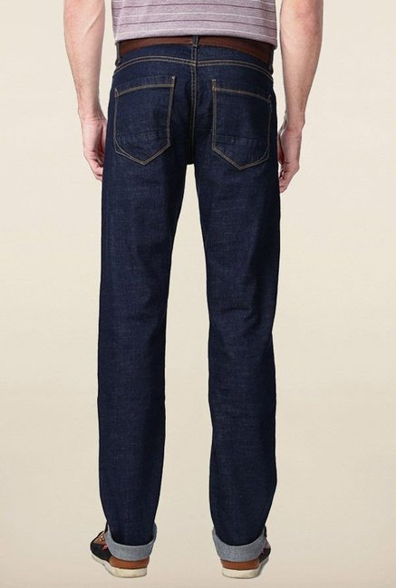 Peter England Dark Blue Mid Rise Jeans