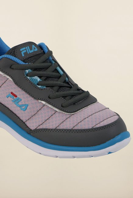 Fila Nozzo Grey and Pink Running Shoes