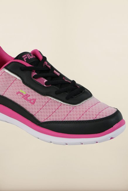 Fila Nozzo Black and Pink Running Shoes