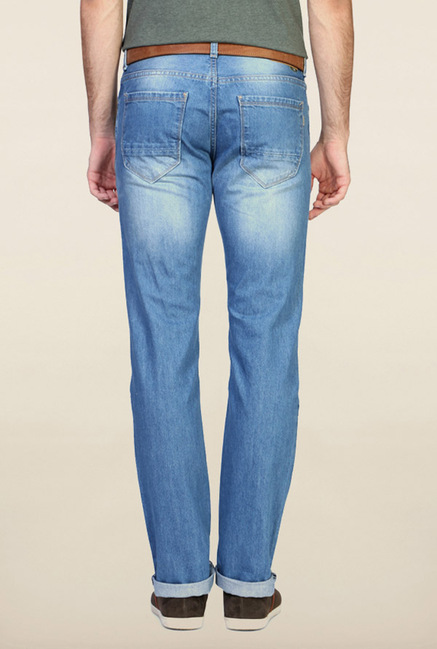 Peter England Light Blue Slim Fit Jeans