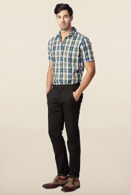 Peter England Olive Solid Chinos