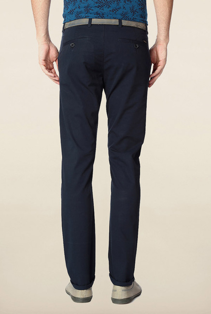 Peter England Navy Cotton Chinos