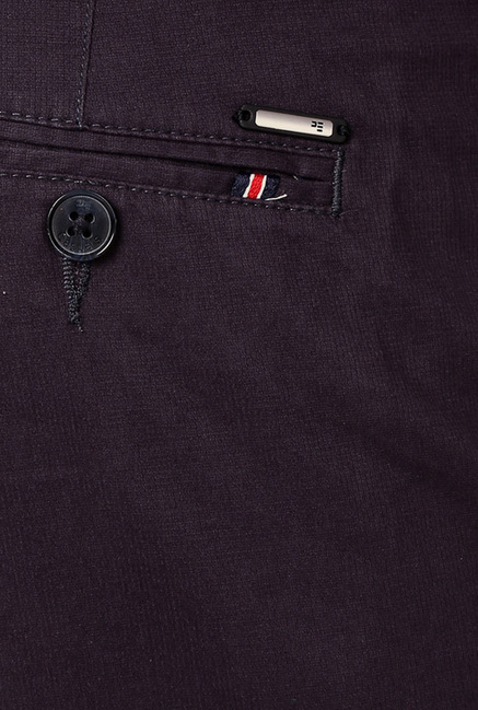 Peter England Purple Chinos