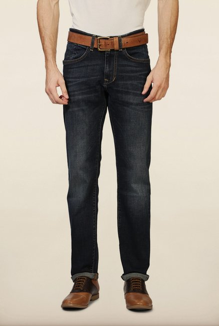 Allen Solly Navy Mid Rise Jeans