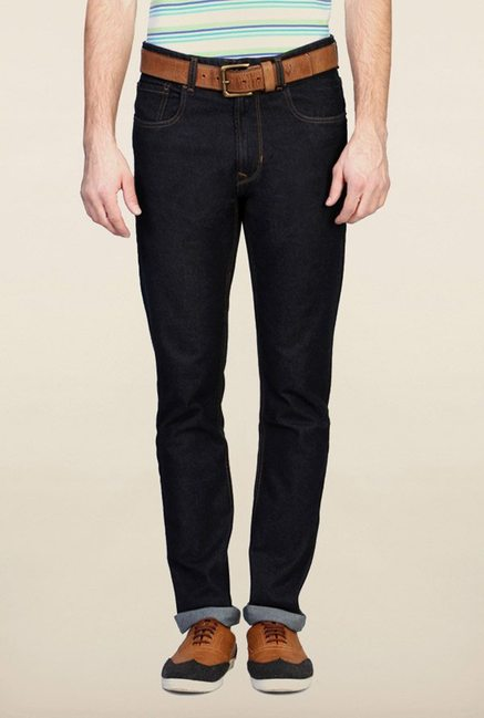 Peter England Navy Slim Fit Jeans
