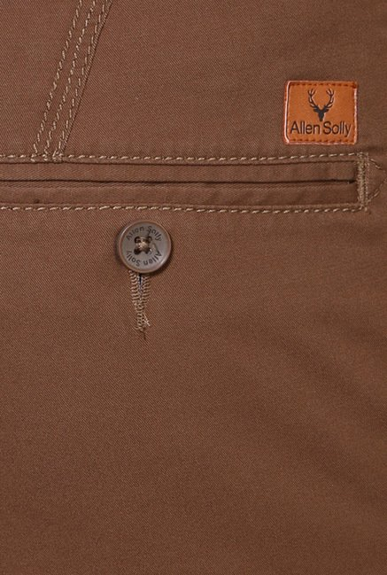 Peter England Brown Cotton Chinos