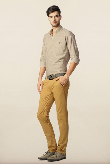 Peter England Khaki Cotton Chinos