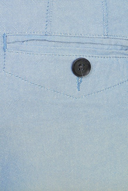 Peter England Light Blue Cotton Chinos