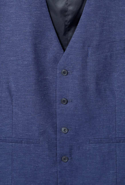 Peter England Navy Solid Jacket
