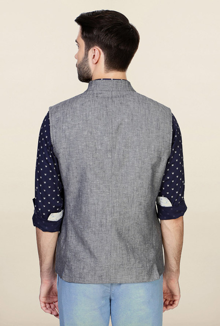 Allen Solly Grey Solid Jacket