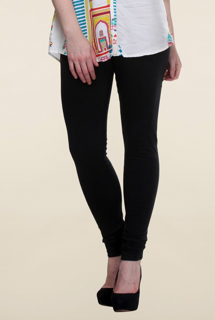 W Black Cotton Leggings