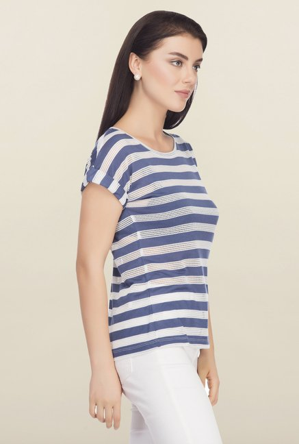 Femella Blue Striped Top