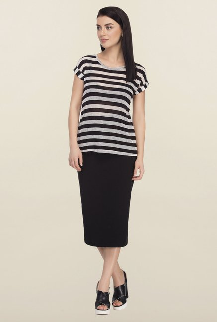 Femella Black Striped Top