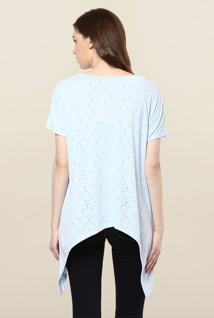 Femella Blue Printed Top
