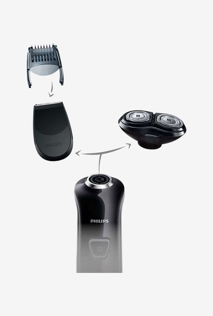Philips Click & Style RQ310 Electric Shaver Black