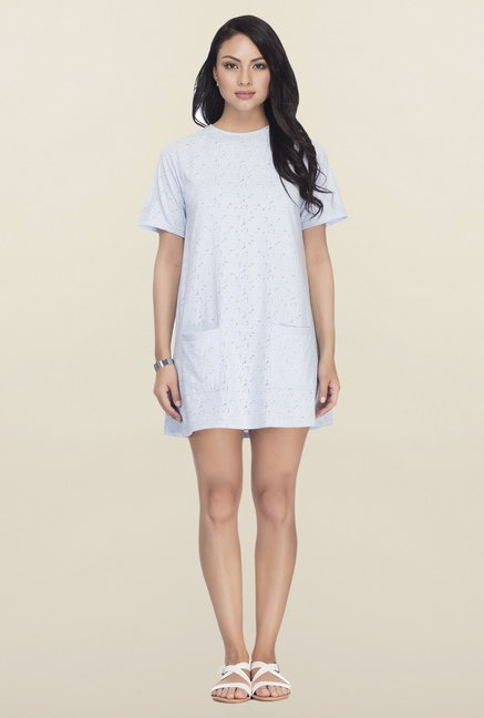 Femella Blue Burnout Chemise Dress