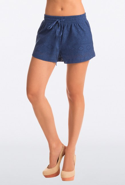 Pretty Secrets Navy Lace Shorts