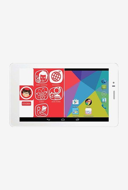 Micromax Canvas Tabby P469 7-inch 8GB Family Tablet (White)