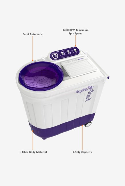 Whirlpool Ace 7.5 Stainfree Washing Machine Flora Purple