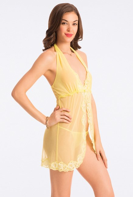 Pretty Secrets Sweet Lime Lace Babydoll
