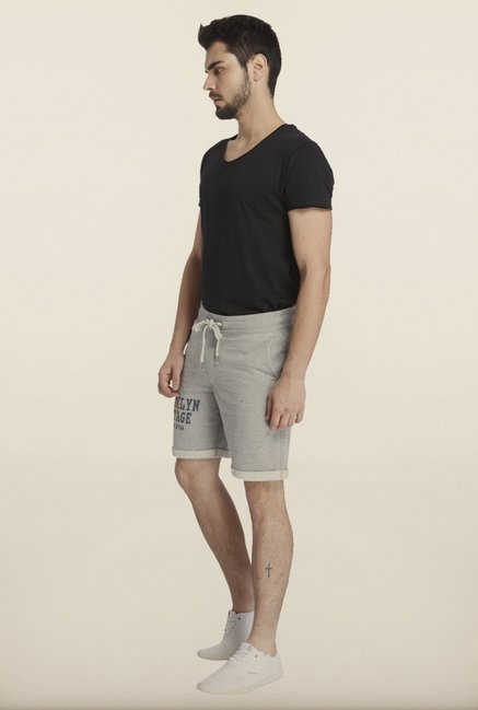 Jack & Jones Grey Printed Sweatshorts