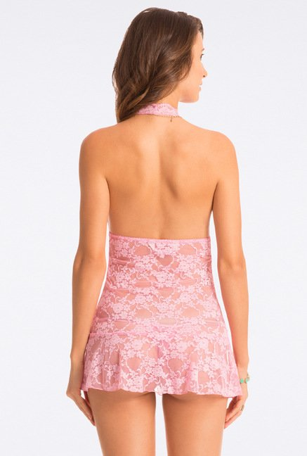 Pretty Secrets Baby Pink Lace Babydoll