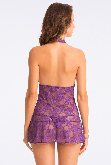 Pretty Secrets Purple Lace Babydoll