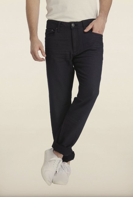 Jack & Jones Black Solid Jeans