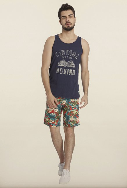 Jack & Jones Navy Printed Vest