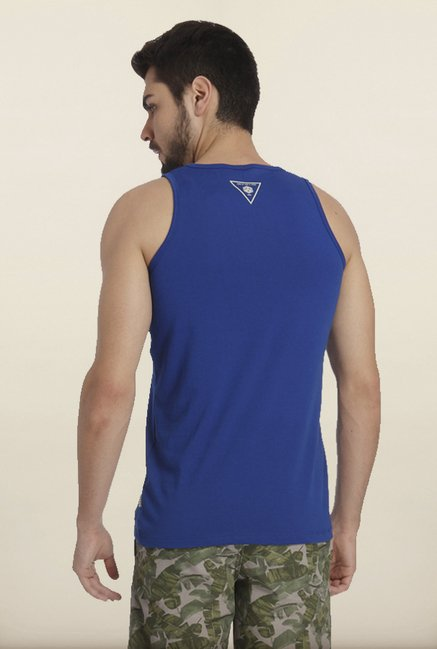 Jack & Jones Blue Solid Vest