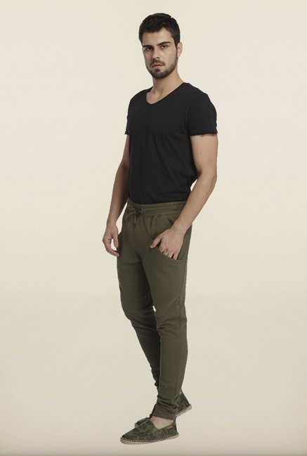Jack & Jones Olive Solid Sweatpants