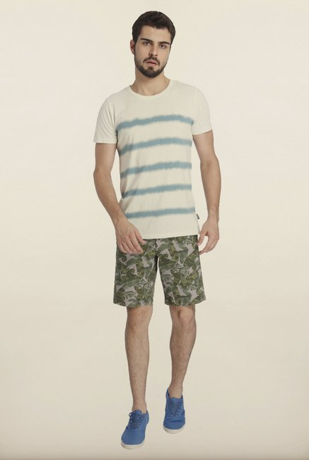 Jack & Jones White Striped T-Shirt