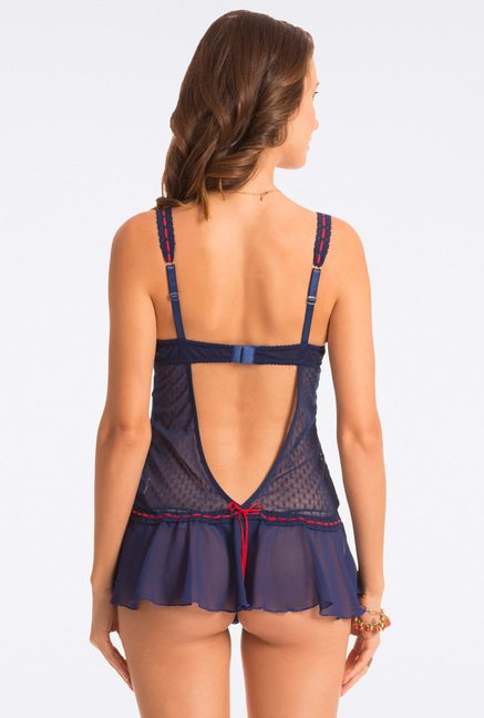 Pretty Secrets Navy Lace Babydoll