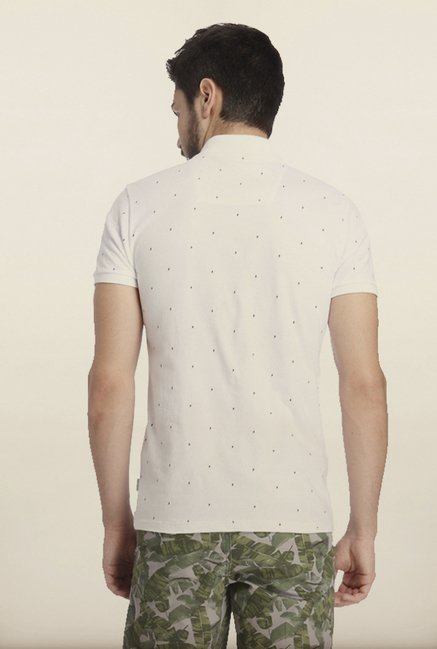 Jack & Jones White Dot Print Polo T-Shirt