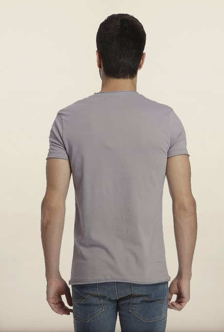 Jack & Jones Grey Graphic Print Crew T-Shirt