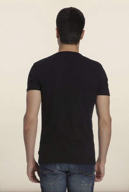 Jack & Jones Black Graphic Print Crew T-Shirt