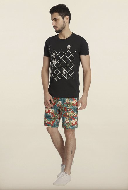 Jack & Jones Black Printed Crew T-Shirt