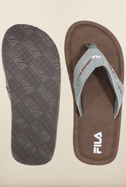 Fila Ocean II Brown & Grey Flip Flops