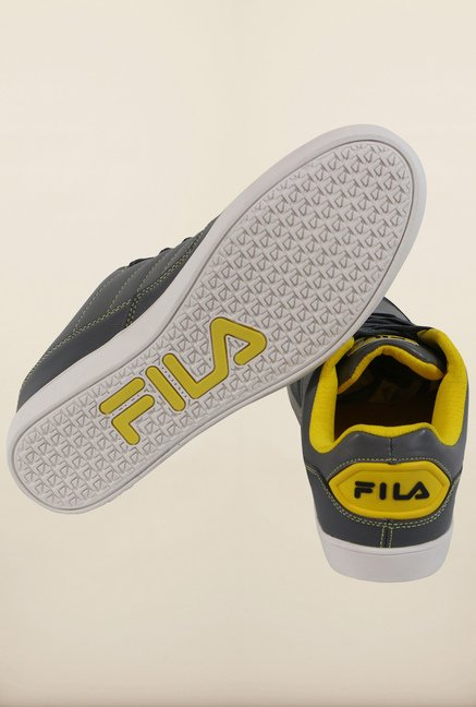 Fila Elizo Grey & Yellow Sneakers for Men