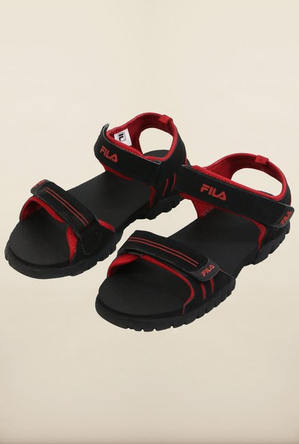 Fila Climb Black & Red Floater Sandals
